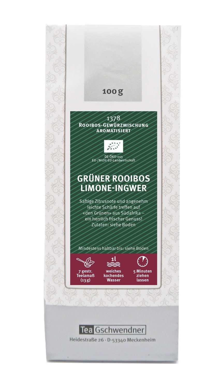 Grüner Rooibos Limone-Ingwer Bio
