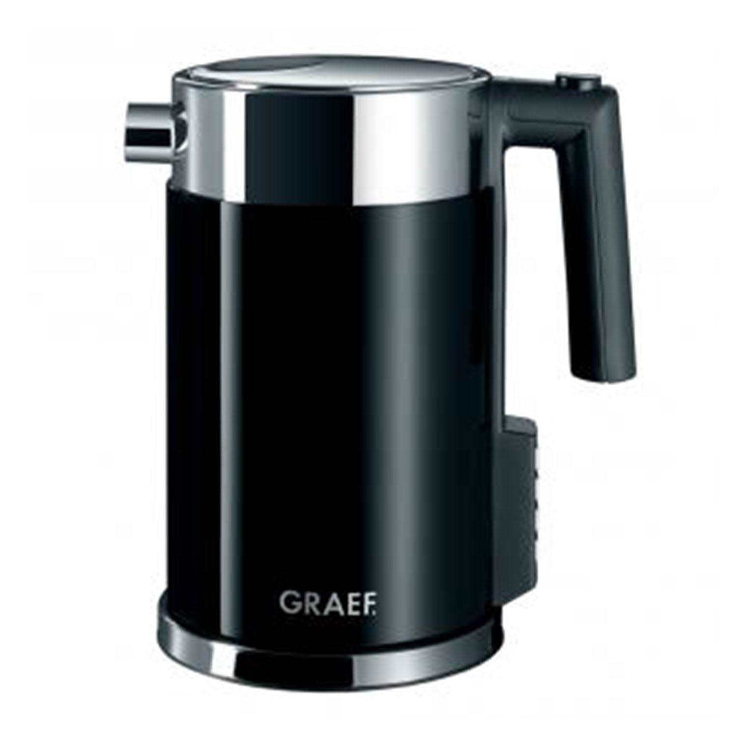 Graef Stainless Steel Electric Kettle 1.5l black