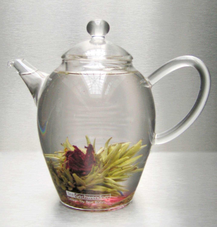 """Glass Teapot """"Teaflower"""""""